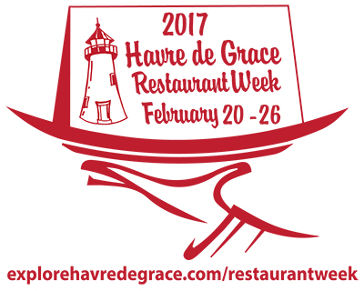 Poster art for Havre de Grace Restaurant Week 2017