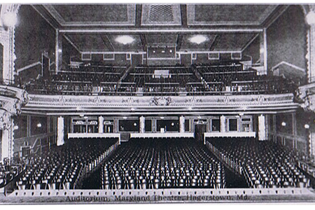 Photo of the auditorium of Maryland Theatre