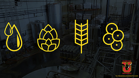 image showing the four ingredients of beer