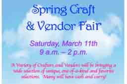 Spring Craft & Vendor Fair flyer