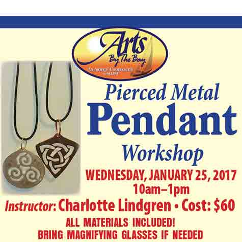 Pierced Metal Pendant Workshop flyer