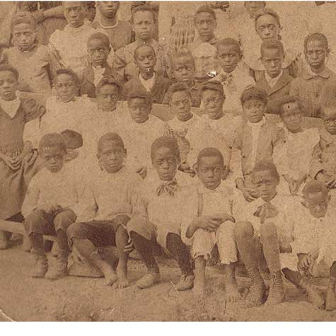 Students attend Hosanna School in 1894