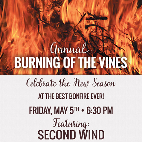 Burning of the Vines event flyer