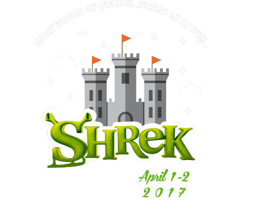Shrek with Castle flyer