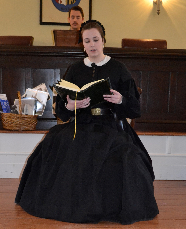 Kate Ramirez portraying Mary Surratt