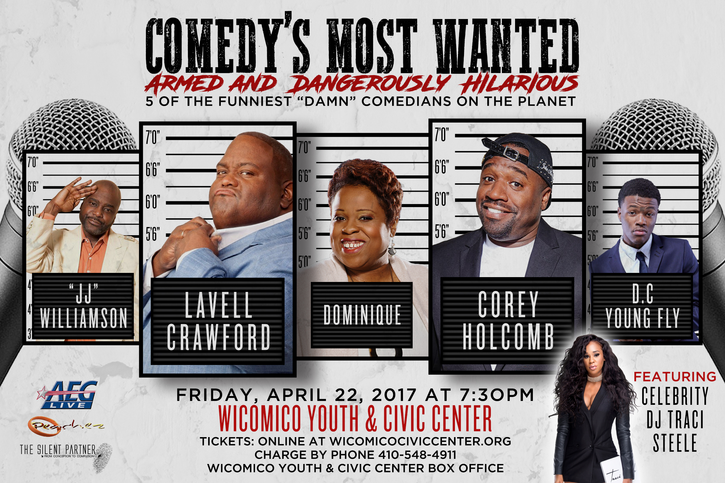 The Comedy's Most Wanted tour poster