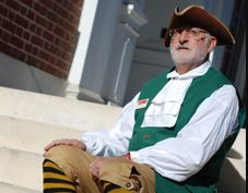 Squire Richard leads Annapolis' tour.