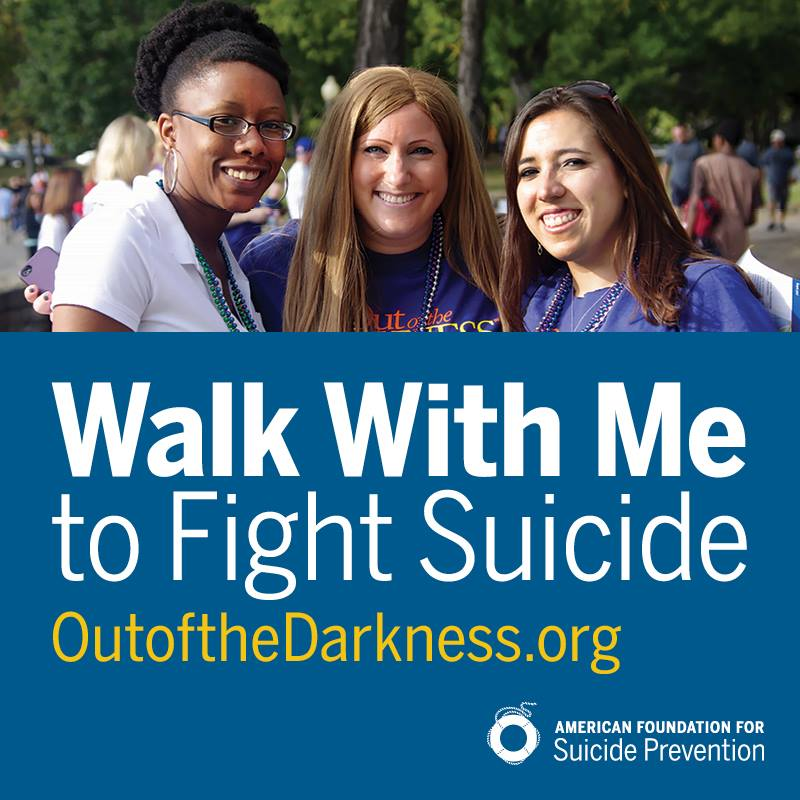 Walk Out of Darkness Suicide prevention flyer