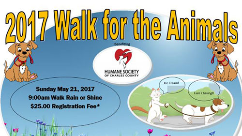 2017 Walk for the Animals flyer