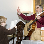 Guitar lessons in the mansion