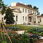 View of the Riversdale Mansion and gardens