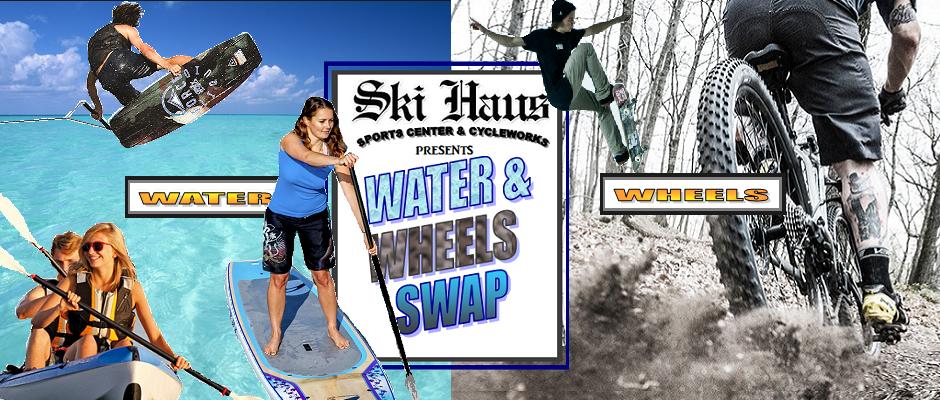 Water & Wheels yardsale sign
