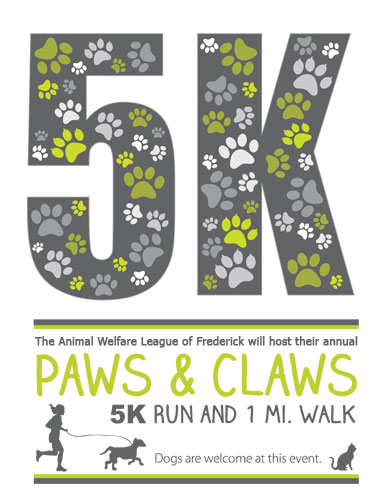 Poster for the 2017 Paws & Claws Run