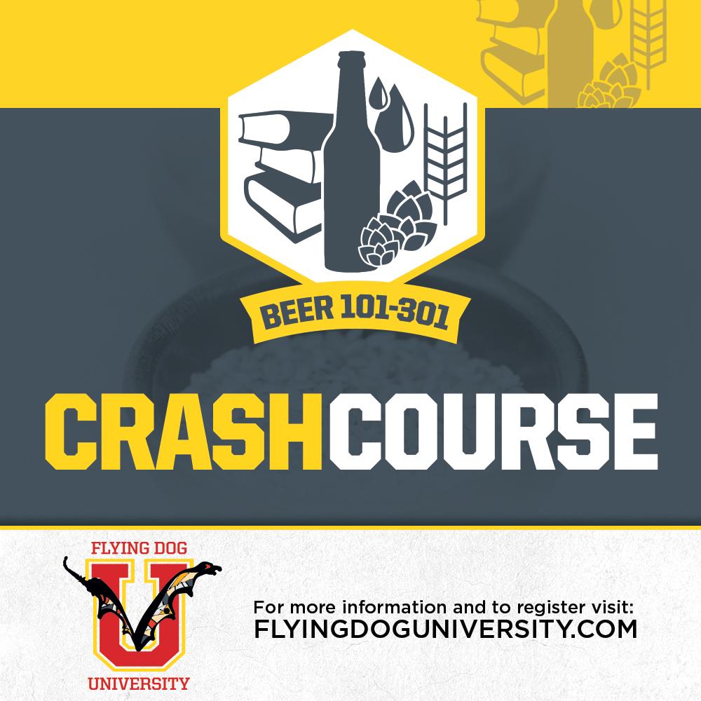 Flying Dog Univ Beer Crash Course poster
