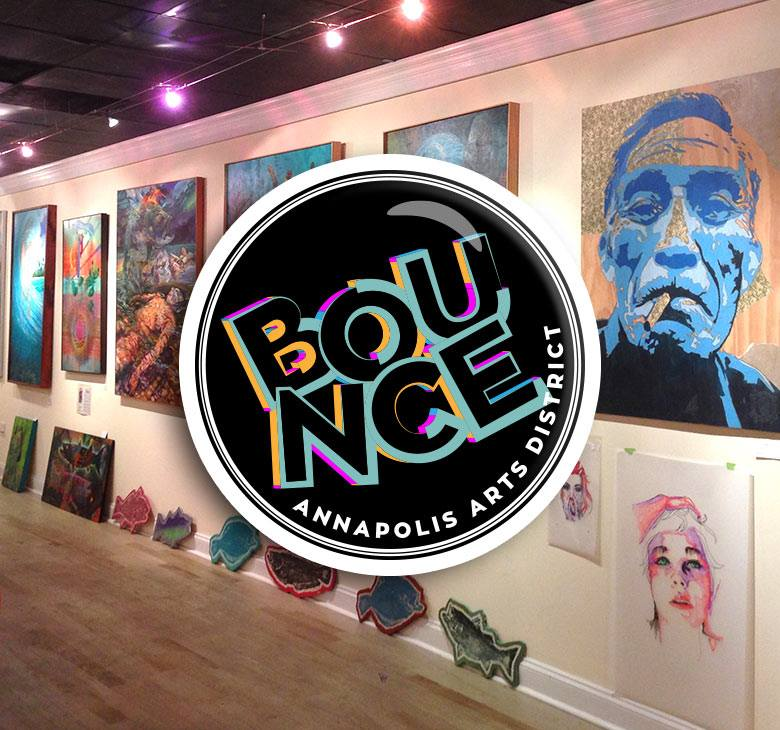 Bounce in the Annapolis Arts District logo
