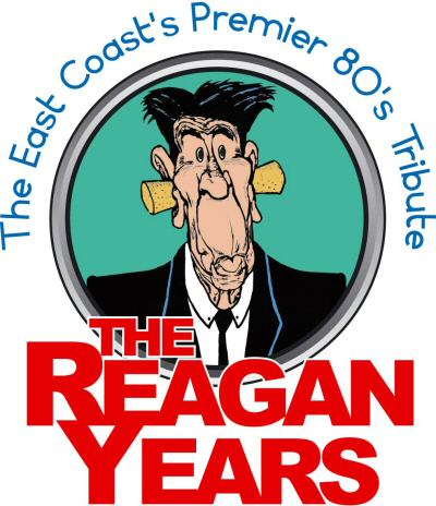The logo for The Reagan Years band.
