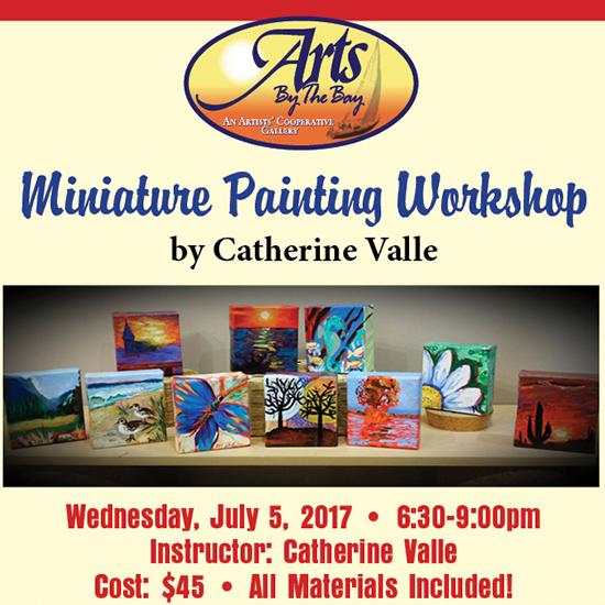 Miniature Art Workshop flyer
