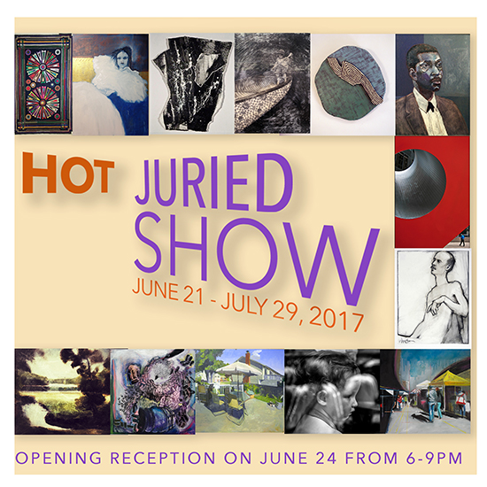 Hot Juried Show's Opening Reception flyer