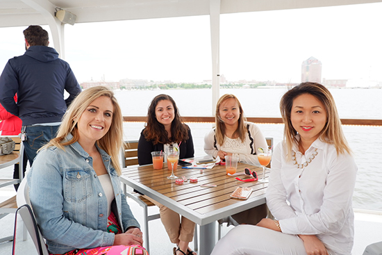 People enjoying a lunch cruise on Raven