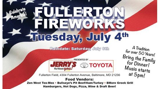 Fullerton Fireworks poster
