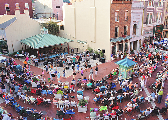 Free weekly concerts in Downtown Cumberland