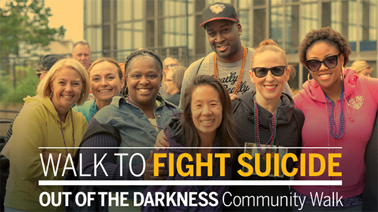 Dorchester Out of the Darkness Walk poster
