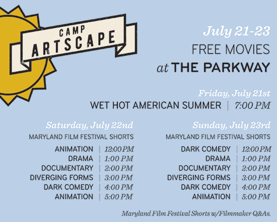 Free films at the Parkway during Artscape