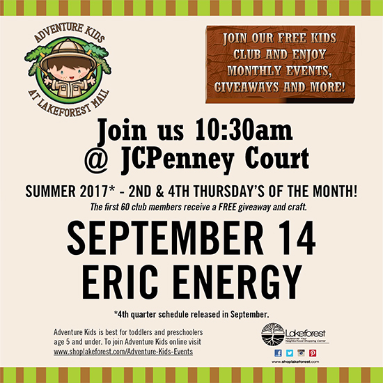 Eric Energy at Lakeforest Mall poster