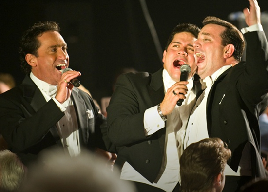 The Sicilian Tenors on Stage