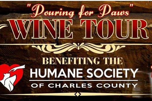 Pouring for Paws Wine Tour logo