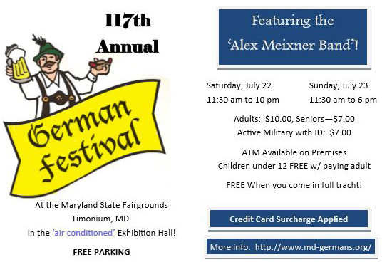117th Annual German Festival flyer