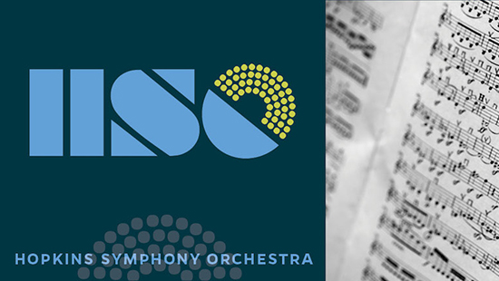 Hopkins Symphony Logo with sheet music image