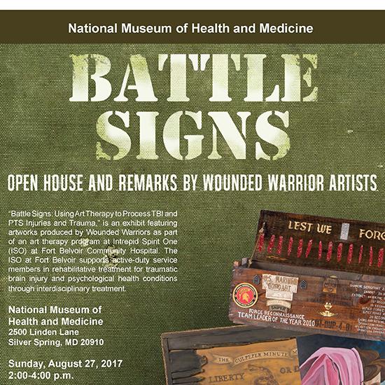 Battle Signs Open House flyer