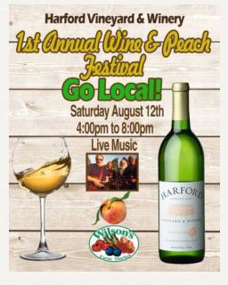 Harford Vineyard & Winery 1st Annual Wine & Peach Festival flyer