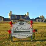 Colonial Holiday Celebration sign outside Belmont