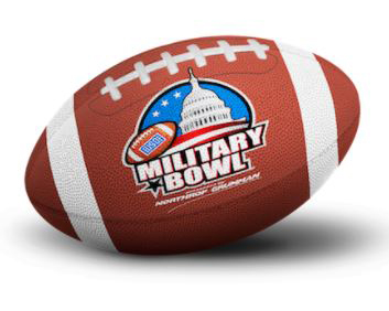 Military Bowl football with logo
