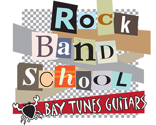 Bay Tunes Guitars Rock Band School poster