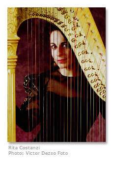 Photo of Rita Costanzi, harpist
