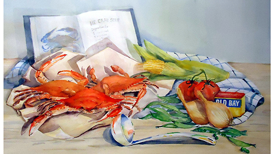 Crab Soup Cook Book painting