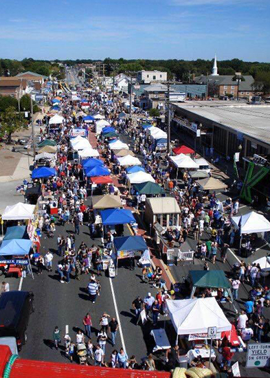 An aerial view of Essex Day