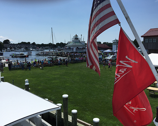 Photo showing Arrival to Watermen's Festival