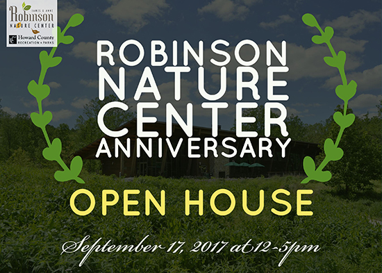 Robinson Nature Center Open House poster