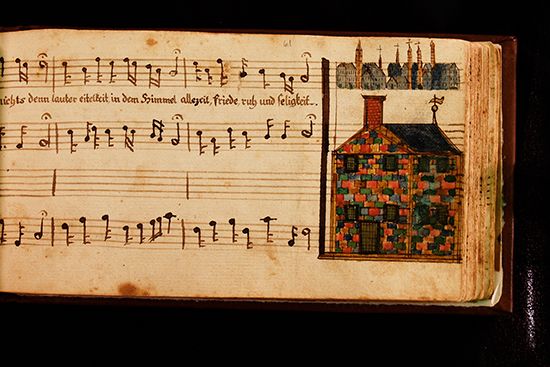 Page from historic Schley Music Book