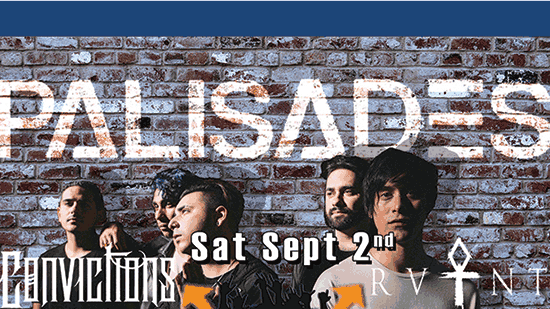 Park Rock Fest poster featuring Palisades