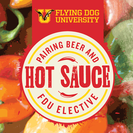 Flying Dog U - Beer and Hot Sauce poster