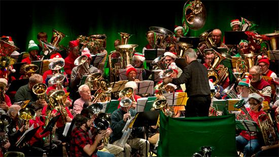 Tuba Christmas Performance Photo