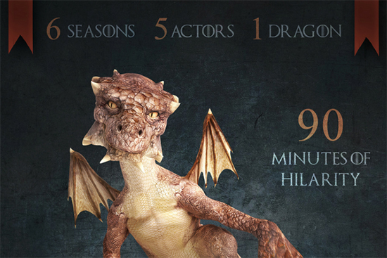 Musical Thrones Poster featuring the Dragon