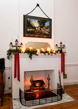 A Fireplace at Riversdale By Candlelight
