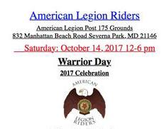 American Legion Riders Warrior Day flyer