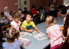 Full S.T.E.A.M. Ahead children in class